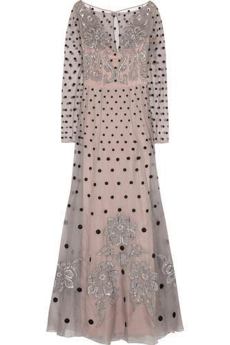 Josette embellished polka-dot silk-blend organza gown #blacktiedress #blacktie #women #covetme #temperleylondon