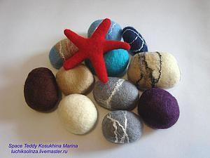 Мастер-класс: валяние камней из шерсти | Ярмарка Мастеров - ручная работа, handmade