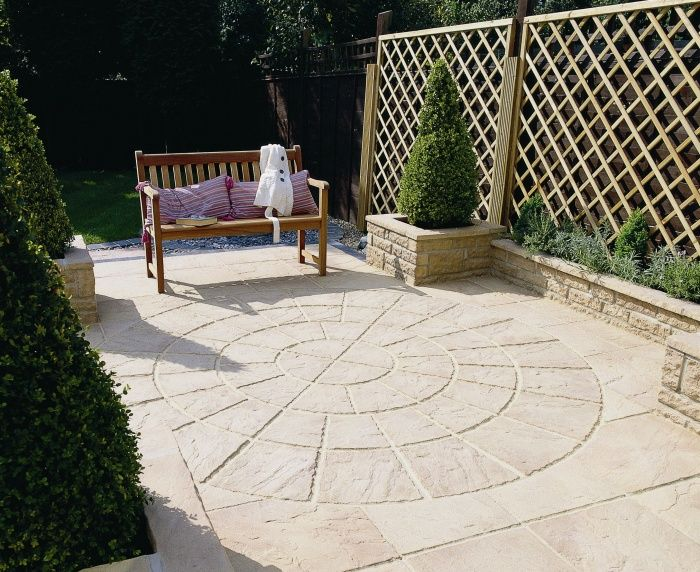 Brett Bronte Patio Paving Slab Project Pack In Weathered Apricot From AWBS  Landscaping And Building Supplies