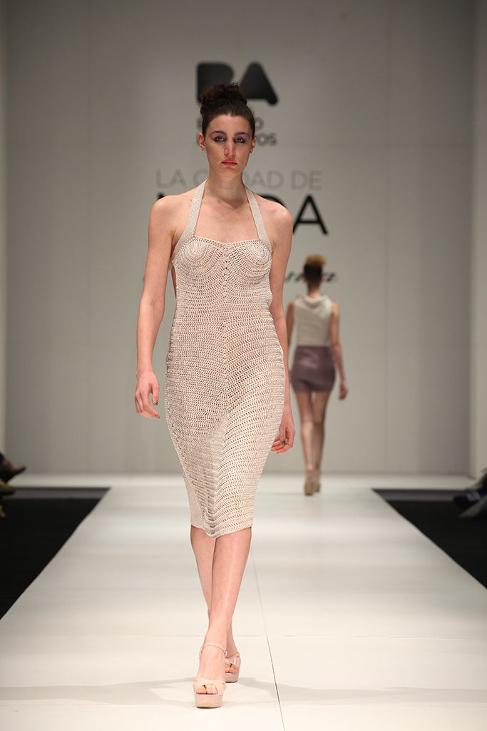 Atenea dress handmade, crochet knitwear collection www.paulaledesma.com.ar