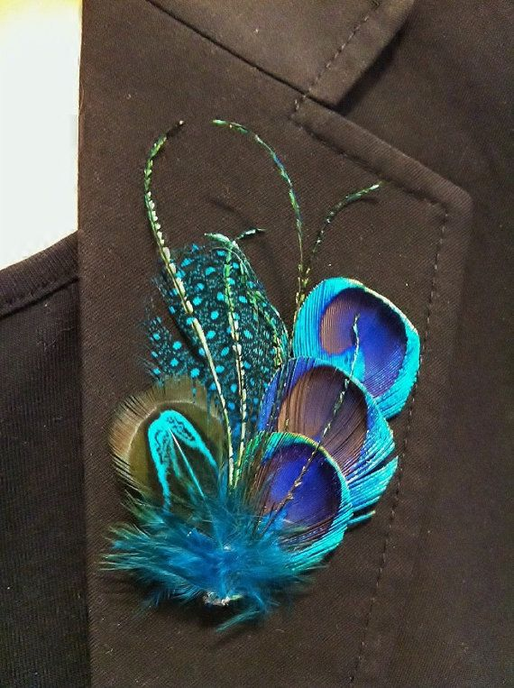 Beautiful Peacock hair clip perfect gift by BrideAndBridesmaids, $18.00