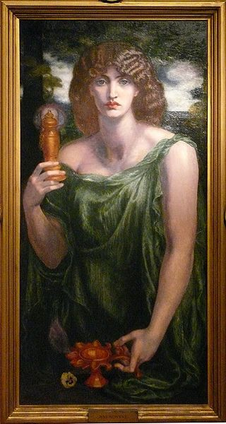Gabriel Dante Rosetti, Mnemosyne.  Art Experience NYC  www.artexperiencenyc.com/social_login/?utm_source=pinterest_medium=pins_content=pinterest_pins_campaign=pinterest_initial