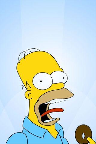 Homer Donut Android Wallpaper HD
