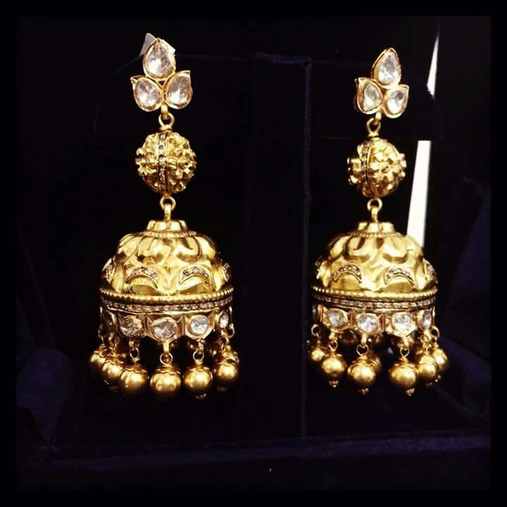 844 best Earrings images on Pinterest | South indian jewellery ...