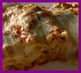 Buffalo Chicken Lasagna. - If you love chicken wings/chicken fingers, you'll love this. It's so easy to put together and has great flavor!