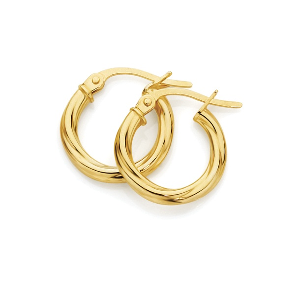 You're twisted around my heart forever - 9ct Yellow Gold twist earrings