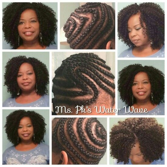 Invisible part cornrow pattern. I'm styling water wave 1b by Freetress#crochetbraids #mspkscrochetbraids