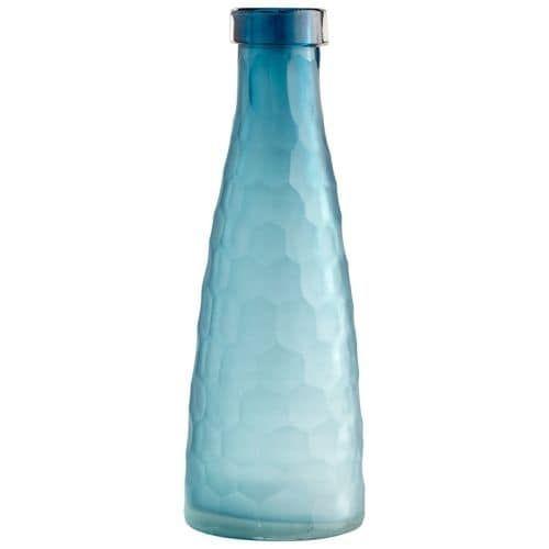 Cyan Design Large Hummingbird Vase Hummingbird 16 Inch Tall Glass Vase, Blue