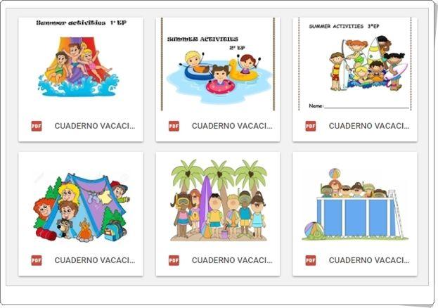 """""""Cuadernos de Actividades de Verano de Inglés"""" (De 1º a 6º de Primaria)"""