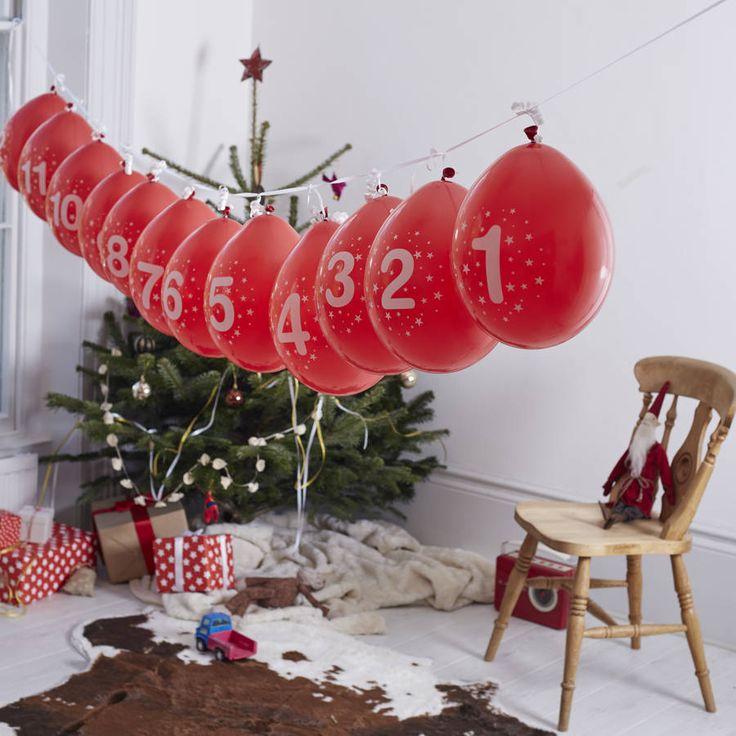 Balloon Advent Calendar And Activity Kit