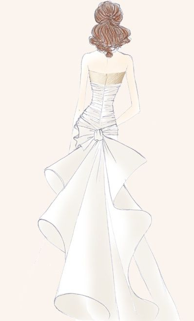 17 best images about fashion wedding sketch book on Wedding dress illustration