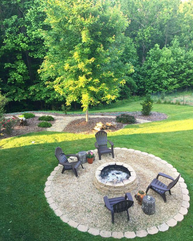 DIY Firepit. Backyard DIY Firepit Tutorial. DIY Firepit #DIYFirepit Beautiful Homes of Instagram @middlesisterdesign - Home Bunch