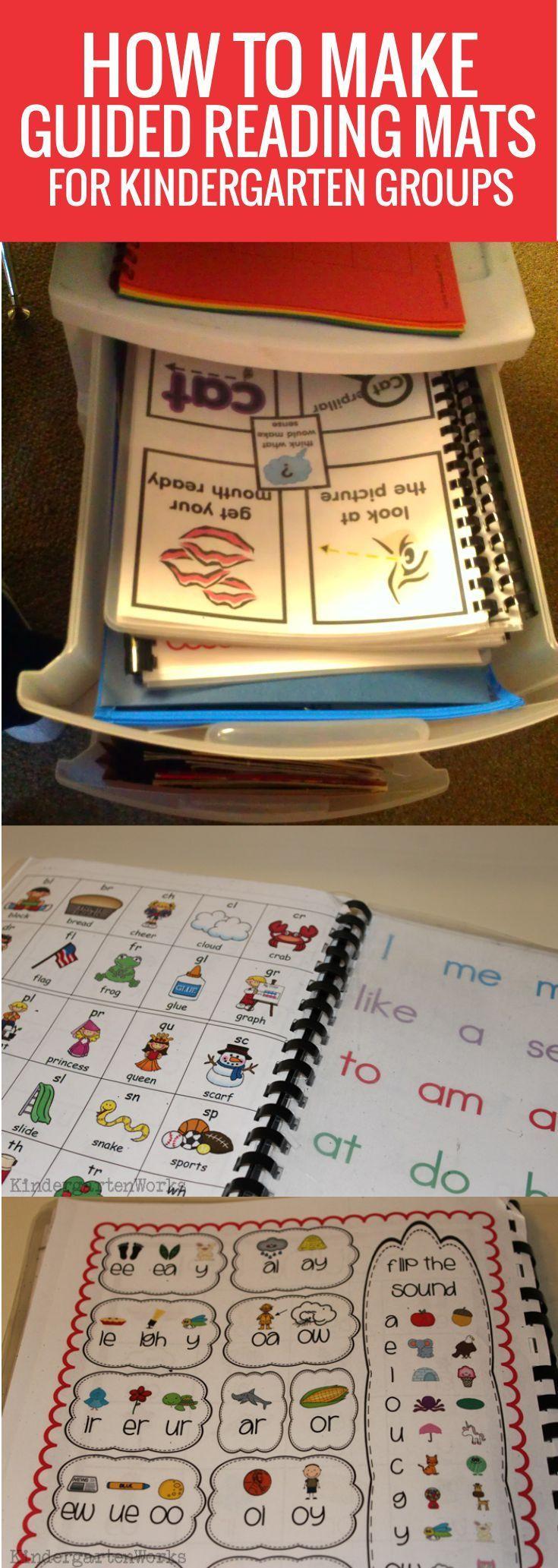 Handy Guided Reading Mats for Kindergarten Groups