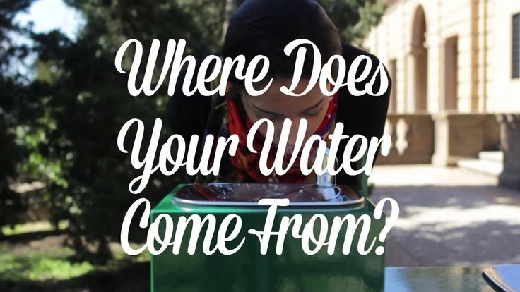 """Great teaching video from The Nature Conservancy: """"Where Does Your Water Come From?"""" Hint: The faucet is NOT the right answer."""