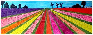 Kids Artists: Dutch flower bulb fields