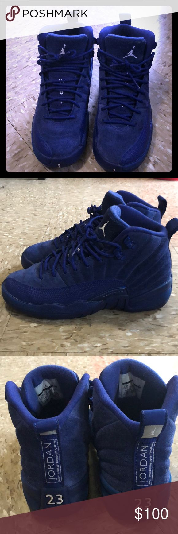 """Retro """"Deep Royal Blue"""" Jordan 12 sz 5.5 !!Authentic!! Royal Blue 12s Gently Used Youth sz 5.5 Retails for $190 *No Lowballing No Trades* Jordan Shoes Sneakers"""