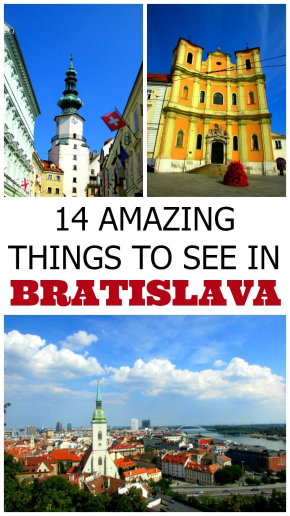 Bratislava, Slovakia - Things to do and travel ideas - This post gives suggestions on 10 things to see in Bratislava, the capital of Slovakia. In addition it provides 4 ideas on what to do in the city. Do not miss the view from the castle!