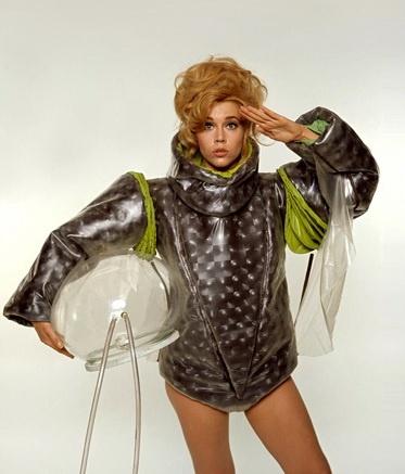 """Retro-Futuristic, Sci-Fi Girl, """"Barbarella"""" with Jane Fonda, 1968.  #vintagescifi"""