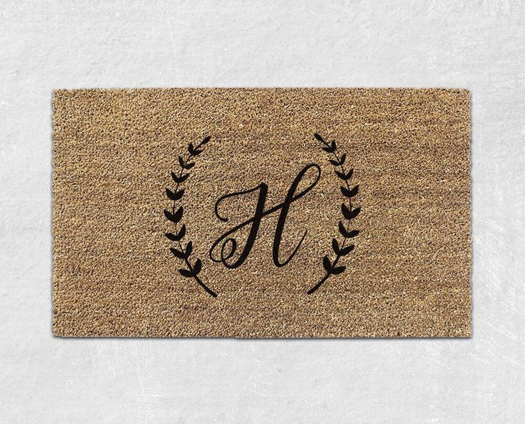 Monogrammed Doormat - Personalized Doormat - Custom Doormat - Custom Door Mat - Personalized Welcome Mat - Custom Welcome Mat - Initial 039 by WithLoveAndLuxe on Etsy https://www.etsy.com/listing/524461163/monogrammed-doormat-personalized-doormat