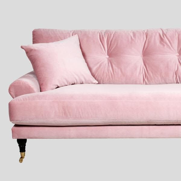 When Two Trends Collide 9 Beautiful Pink Velvet Sofas Pink Velvet Sofa Pink Sofa Pink Couch
