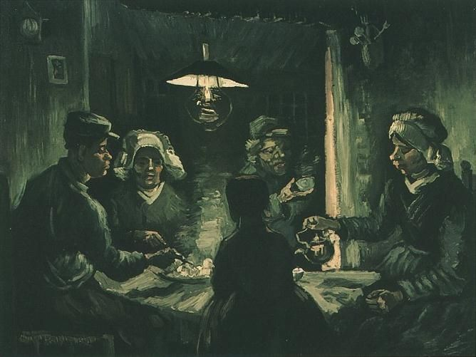 The Potato Eaters version 2 | Vincent Van Gogh | oil painting