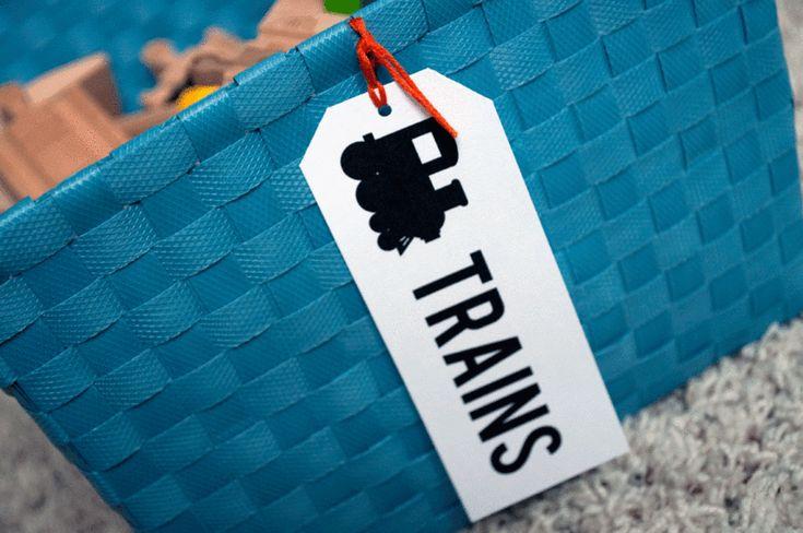 Etichette stampabili per le ceste dei giocattoli