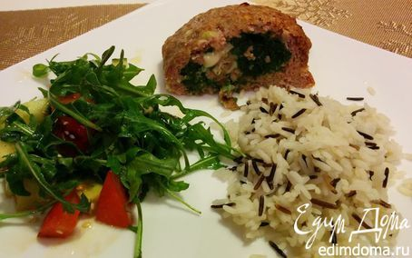 Вкусный и полезный рулет из индейки и шпината | Кулинарные рецепты от «Едим дома!»