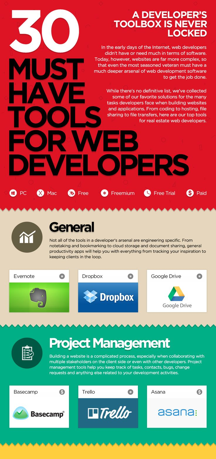 30 Must Have Tools for Web Developers