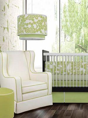 Photo by www.modernnursery.comIdeas, Brown Crib Nursery, Beautiful Nurseries, Hanging Lights Nursery, Green Nursery A, Colors Green, Gender Neutral Nurseries, Green Nurseries, Www Modernnursery Com