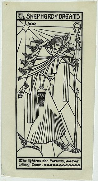 Artist: WALLER, Christian | Title: The Shepherd of Dreams. | Date: 1932 | Technique: linocut, printed in black ink, from one block