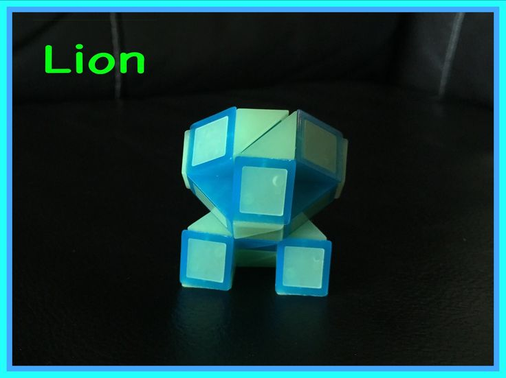 Smiggle Snake Puzzle (Rubik's Twist): How to Make a Lion - Video Tutorial