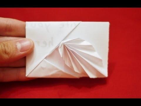 How to make an Easy Origami Leaf Card - [[ HD ]]
