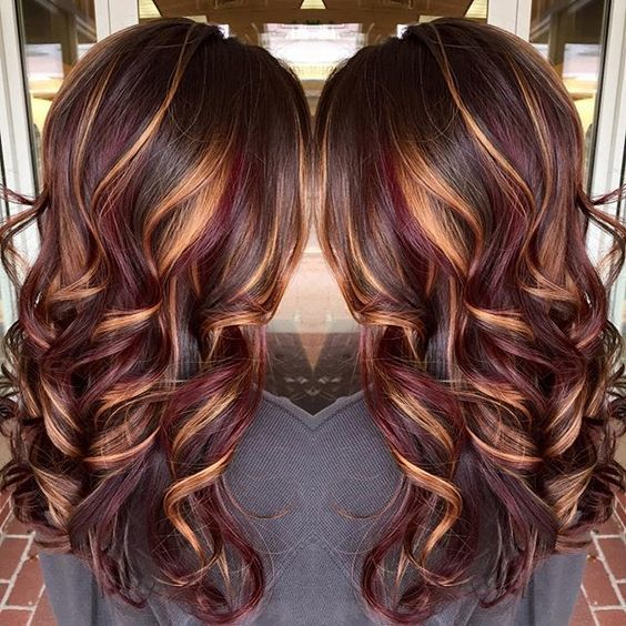 I LOVE this hair! It is so pretty and subtle! #Hair #Lowlights #FallHair