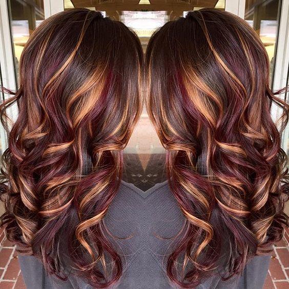 I LOVE this hair! It is so pretty and subtle! #Hair #Lowlights #FallHair