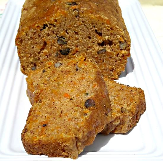 Just why not really?  A carrot cake bread sounds devine. Though I'm not sure why you'd want to make it into a bread, I don't see why you wouldn't either. Personally, I would leave out the strong spices and perhaps just make a carrot and raisin bread.  I think the idea is a good one, but I shall have to see how the practical goes.