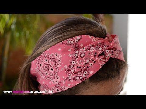 Tutorial: Tiara dupla face, em tecido, e no interior, um arco de plástico/Passo a Passo (PAP) - YouTube