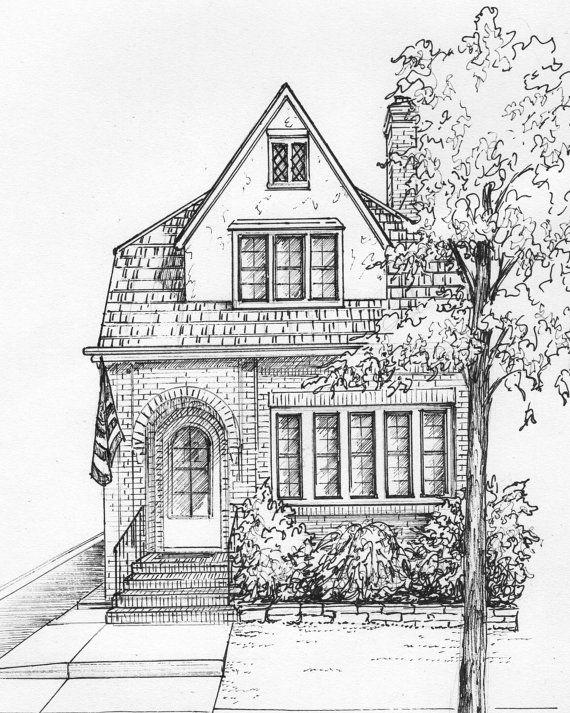 Best 25 house sketch ideas on pinterest building for Architecture fantastique