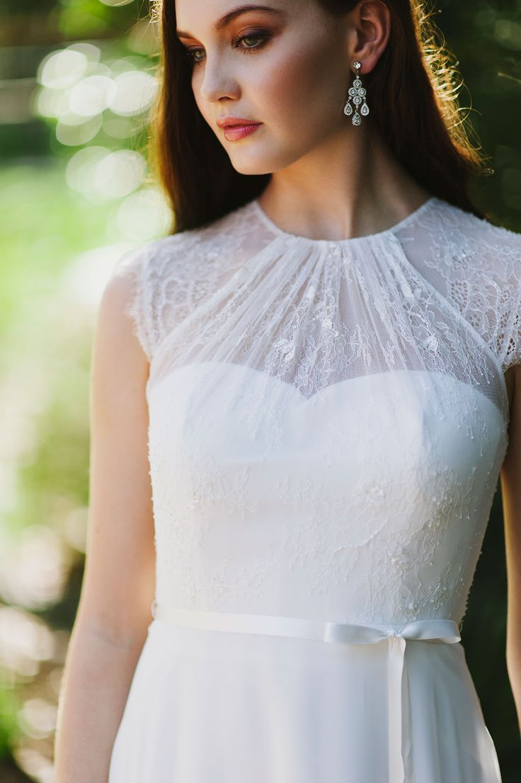 It's all about the beautiful neckline and soft flowing skirt with Joceline