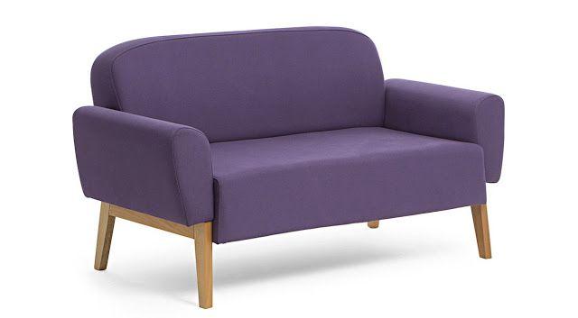 Sofá roxo (muita personalidade) - Sofá Agnes 02 lugares http://www.oppa.com.br/sofa-agnes-2-lugares-roxo