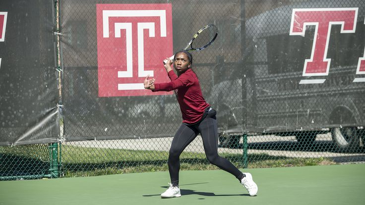 Women's Tennis Defeats Drexel 4-3 in Mid-Week Dual. Monet Stuckey-Willis (posted) wins in both doubles and singles to lead the Owls to an eighth win for the 2017 season.  Temple University Tennis / Temple University sports / Tennis match / College sports / College athletes /