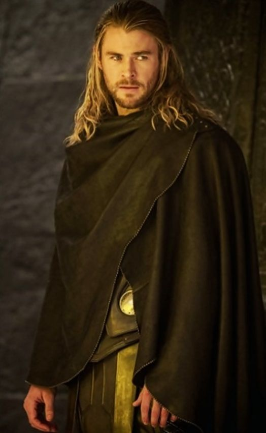 "Chris Hemsworth. Thor 2. Beautiful. The cloak that is. Sat through the entire movie thinking ""I want one"""