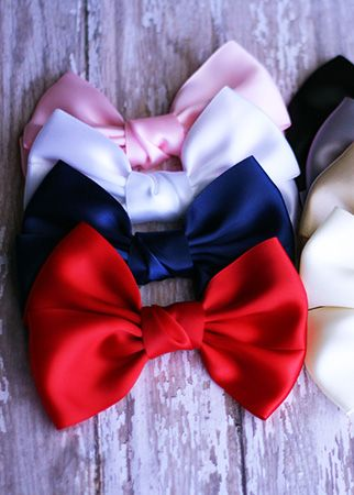The Hair Bow Company  ***NEW*** Satin Hair Bow  1.99ea  8 colors!