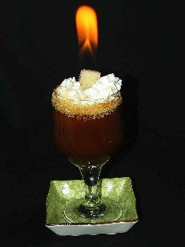 is this coffee on fire? can we serve flaming coffee??.... Hubers Famous Spanish Coffee recipe from BigOven