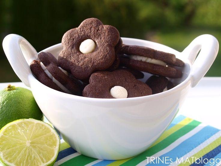 Sjokoladekjeks med limekrem