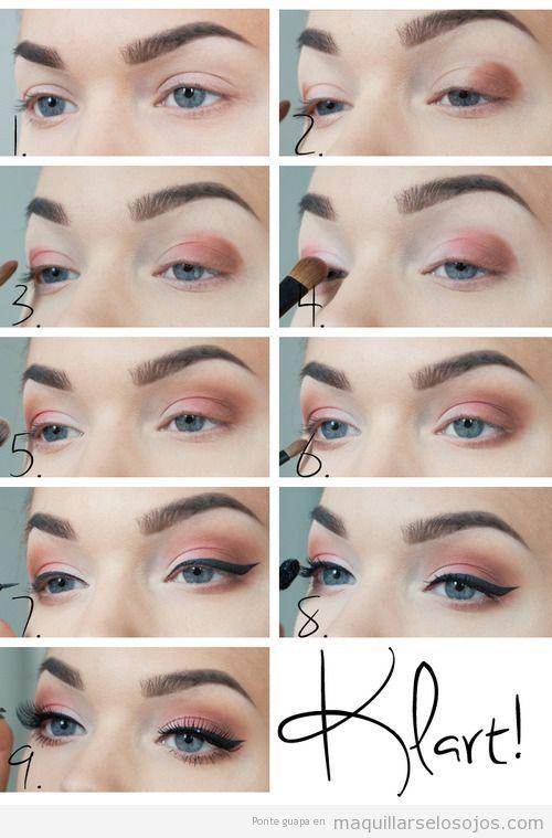 tutorial maquillar tus ojos paso a paso maquillaje make up beauty pinterest tutorials. Black Bedroom Furniture Sets. Home Design Ideas