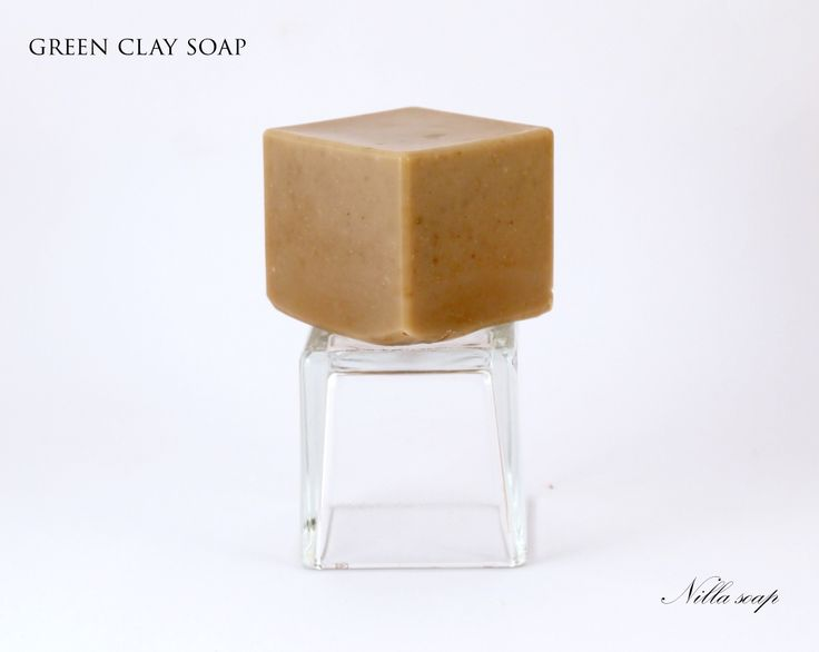 This soap was made with green clay designed for those with oily and combination skin type