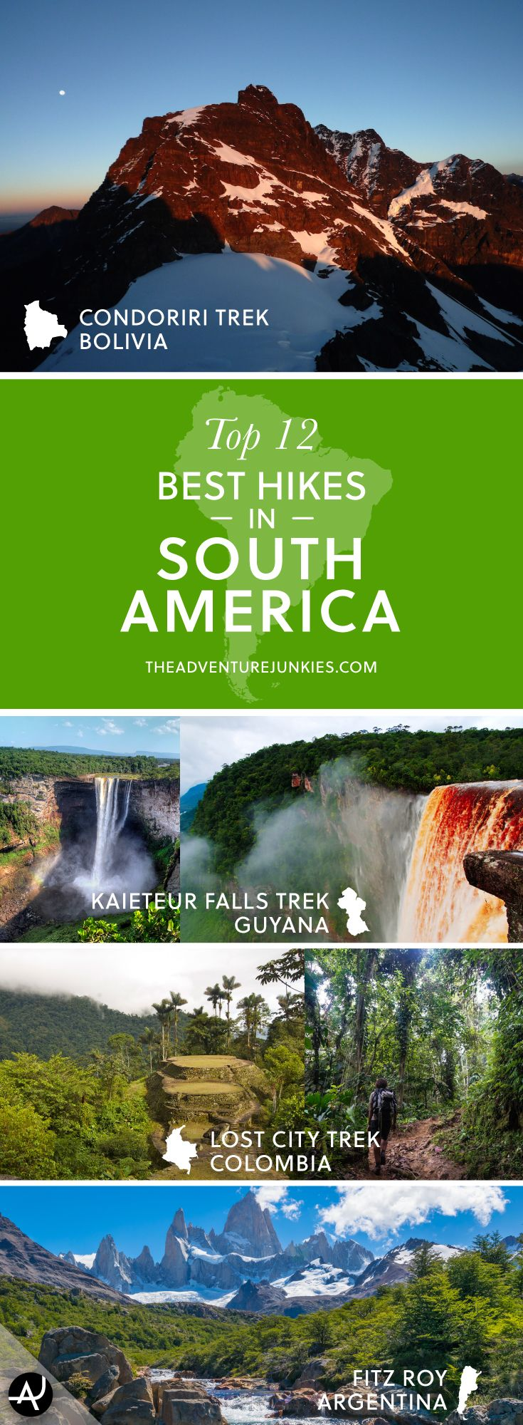 The Best Hikes in South America – Best Hiking Destinations – Hiking Bucket List – Beautiful Backpacking Places To Go On Vacation