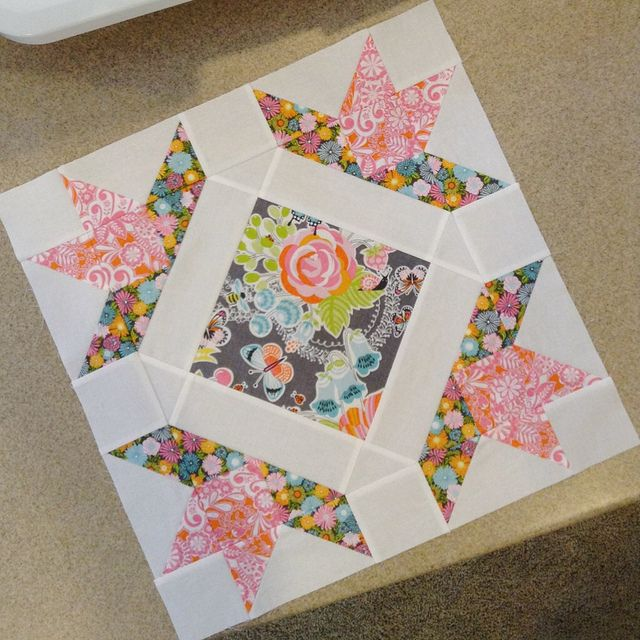 Field Day quilt block - b by twinfibers, via Flickr I love this block