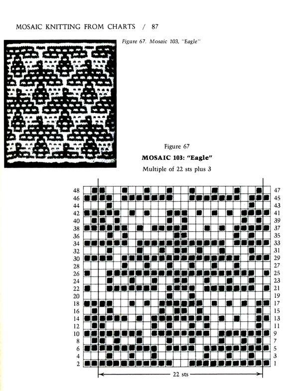 Mosaic Knitting Barbara G. Walker (Lenivii gakkard) Mosaic Knitting Barbara G. Walker (Lenivii gakkard) #92