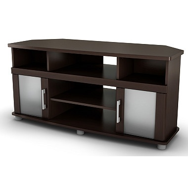 #ilovetoshop South Shore City Life Corner TV Stand in Chocolate